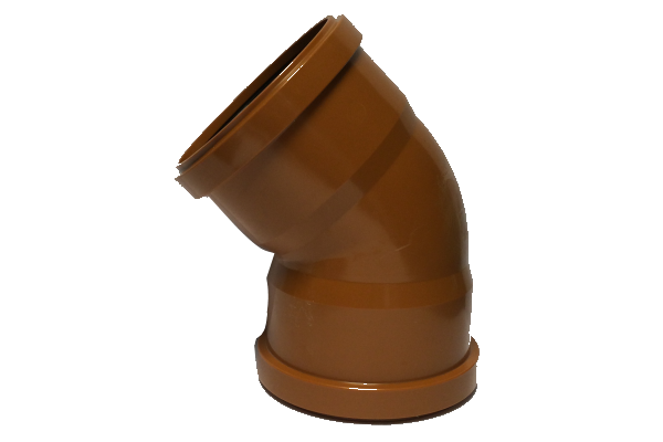 UDS Underground Drainage 45° Double Socket Bend 110mm