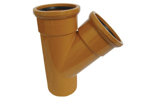 Eurotrade Underground Drainage 45° Double Socket Equal Junction 110mm x 110mm