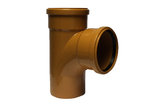 Eurotrade Underground Drainage 90° Double Socket Equal Junction 110mm x 110mm
