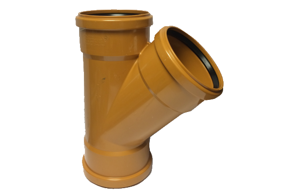 UDS Underground Drainage 45° Triple Socket Equal Junction 110mm x 110mm x110mm
