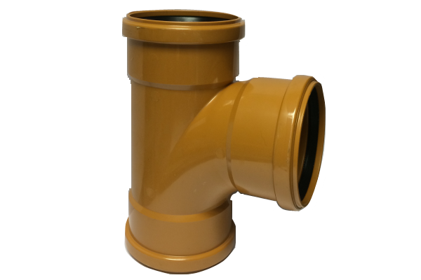Eurotrade Underground Drainage 90° Triple Socket Equal Junction 110mm x 110mm x 110mm