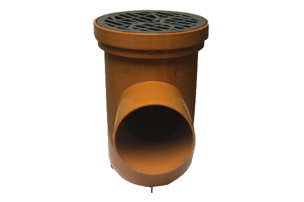 Eurotrade Underground Drainage Bottle Gully With Circular Grid 110mm