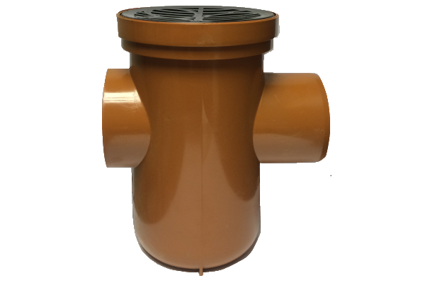 UDS Underground Drainage Bottle Gully with Back Inlet and Circular Grid 110mm