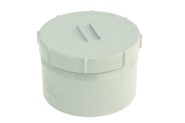 Hunter UPVC 110 mm Soil Access Cap (SOLVENT Socket Tail)