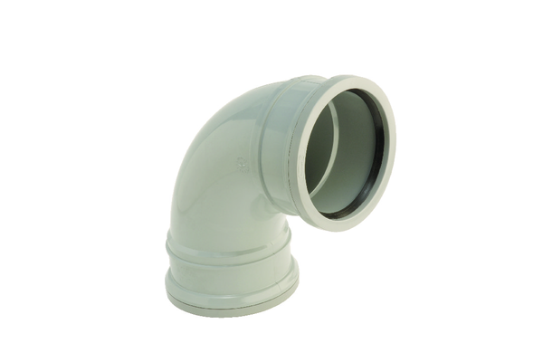 Hunter UPVC 110 mm Soil 90° Bend (PUSHFIT Double Socketed)