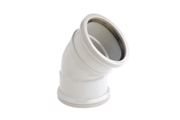 Hunter UPVC 110 mm Soil 135° Bend (PUSHFIT Double Socketed)