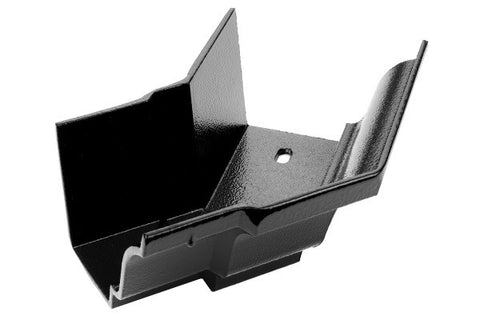 Heritage Cast Aluminium Moulded Gutter Internal Stopend - SMOOTH BLACK FINISH