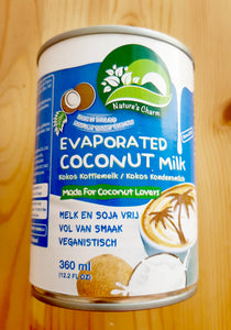 Nature's Charm Evaporated Coconut Milk (Kokos Koffiemelk)