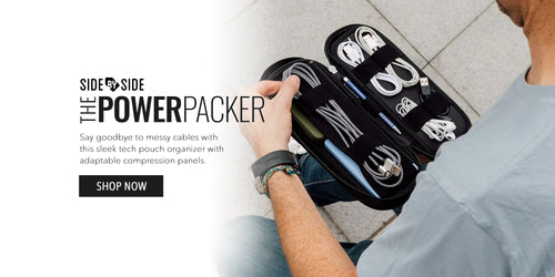 Side by Side Power Packer Compact Pouch Organizer