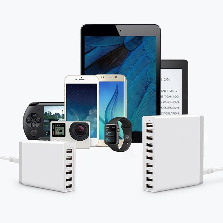 GlowRight Multi-Port USB Charger (6 / 10 Ports)