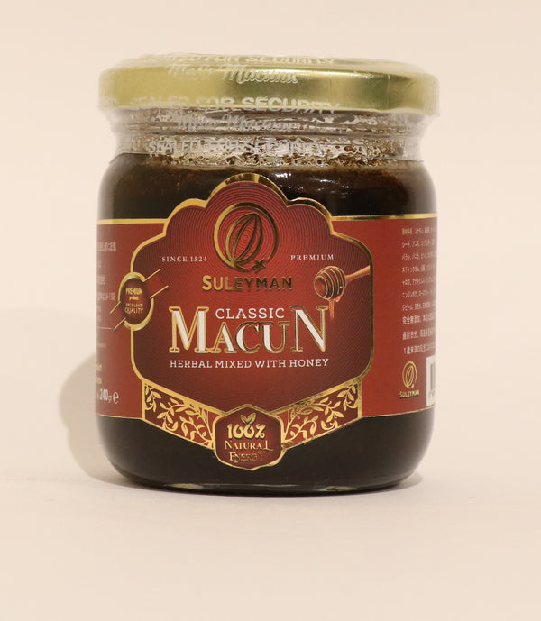 Suleyman Classic Macun (Carob Molasses in Honey with Spices) クラシックマージュン(イナゴマメの糖蜜とはちみつミックス)240g