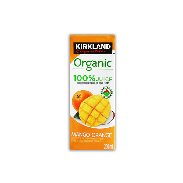 Kirkland Organic 100% Juice Mango Orange 有機マンゴーオレンジジュース 200mL