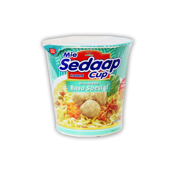 Mie Sedaap Cup Baso Special (Meat Ball Special)  即席カップめん 200g