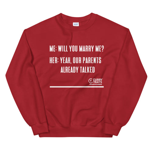 Marriage Unisex Sweatshirt (White Design)