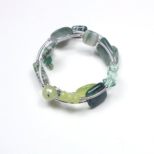 Green Wind On Bracelet with Gemstones and Sterling Silver