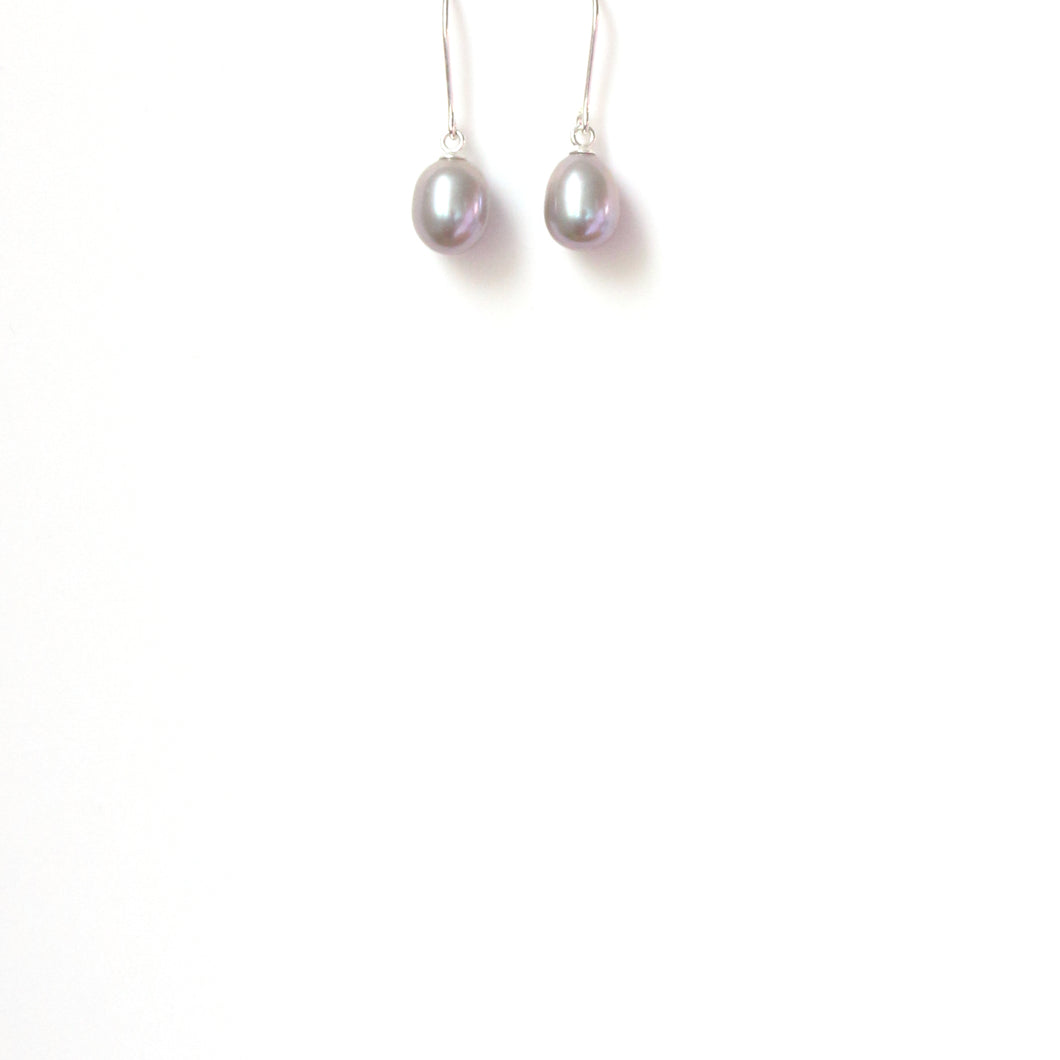 Freshwater Grey Pearl Earrings with Sterling Silver Hook