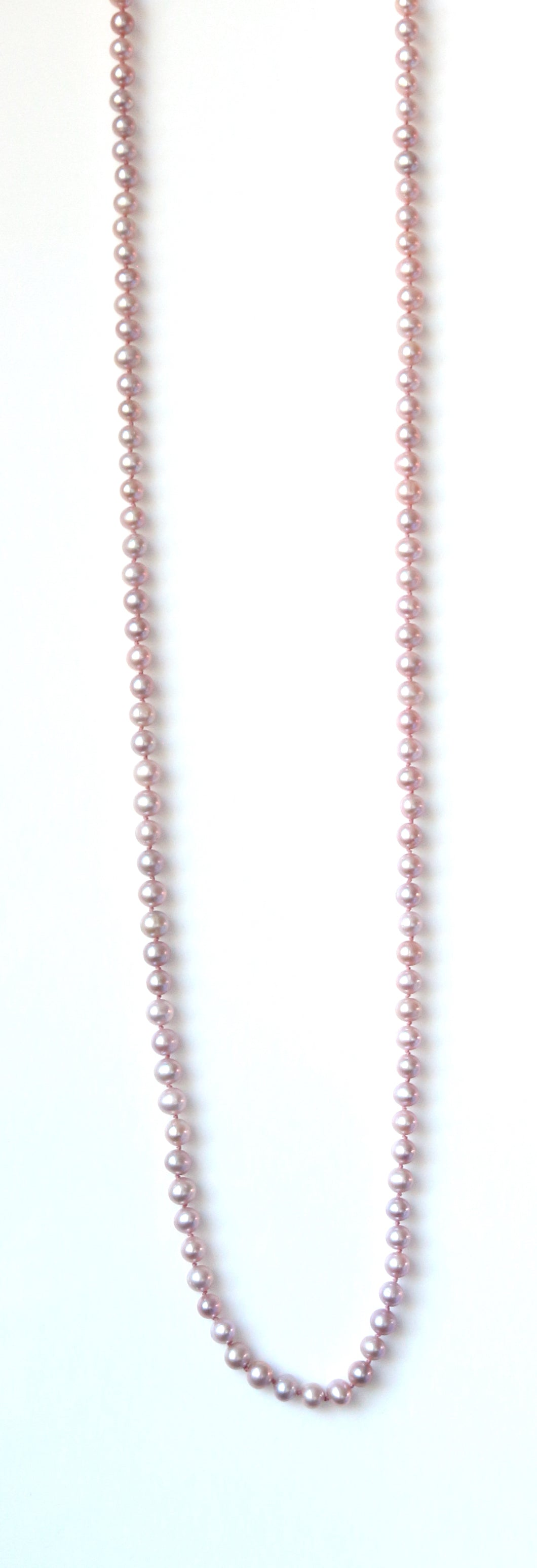 Australian Handmade Pink Long Necklace with Natural Colour Pink Pearls
