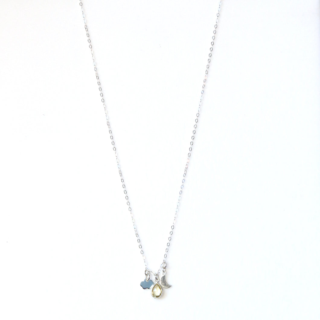 Sterling Silver Necklace with Charms
