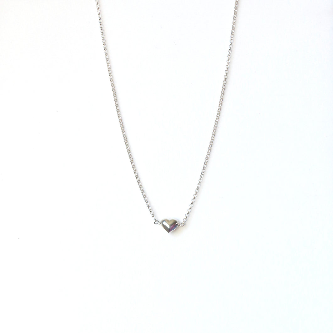 Sterling Silver Chain Necklace with Heart