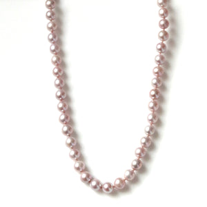 Australian Handmade Pink Natural Colour Pearl Necklace with Sterling Silver Clasp