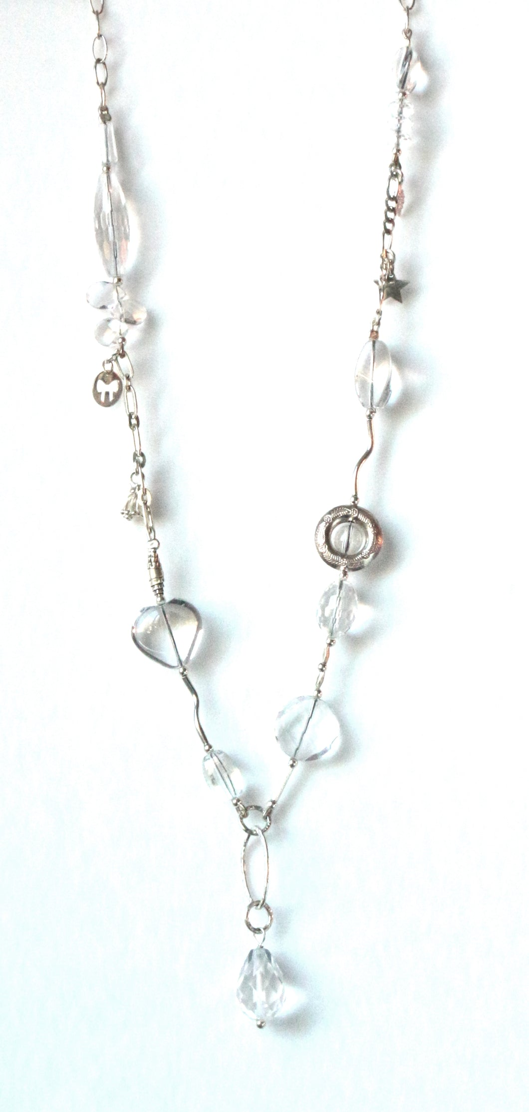 Australian Handmade Crystal Quartz Necklace with Sterling Silver