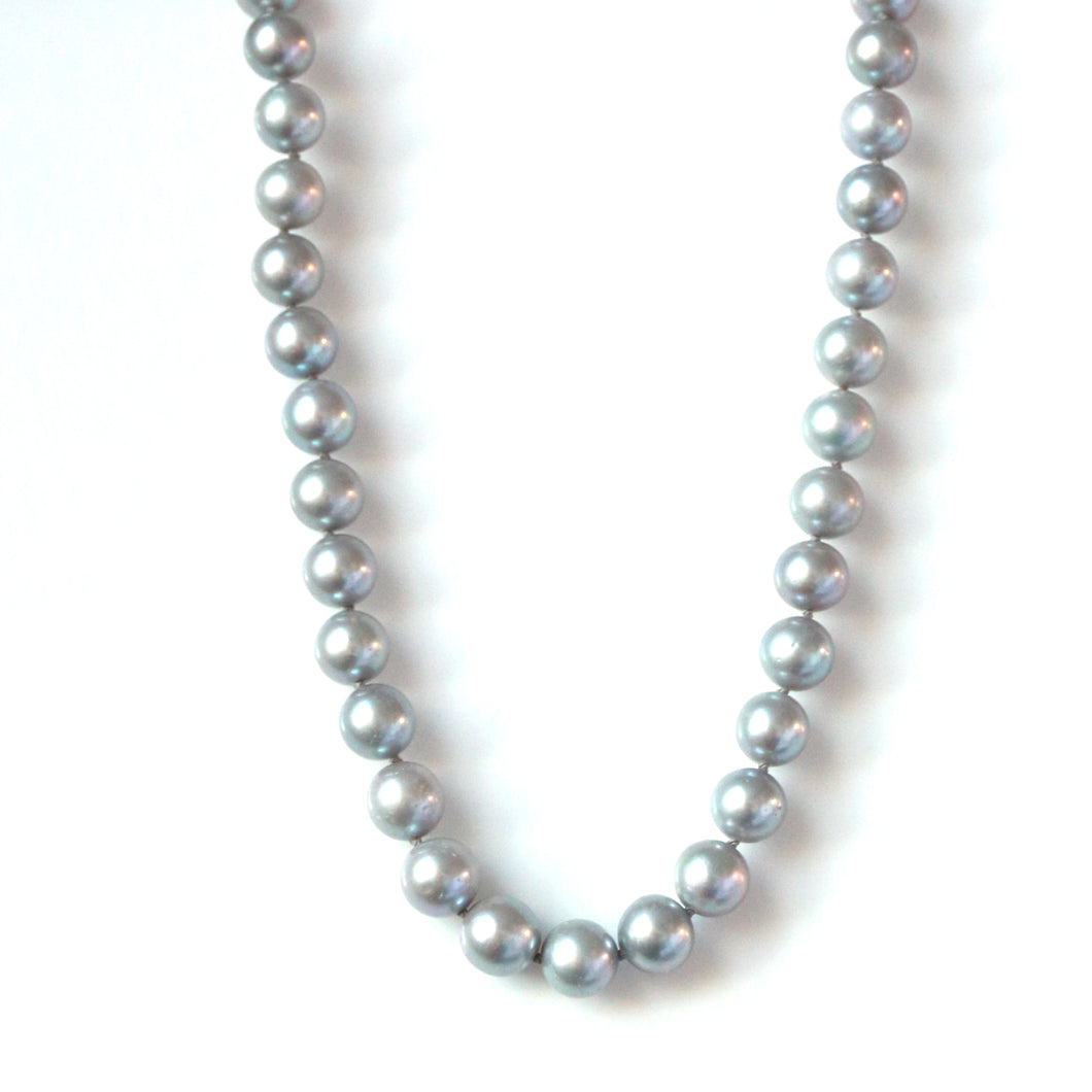 Australian Handmade Grey Pearl with Sterling Silver Clasp