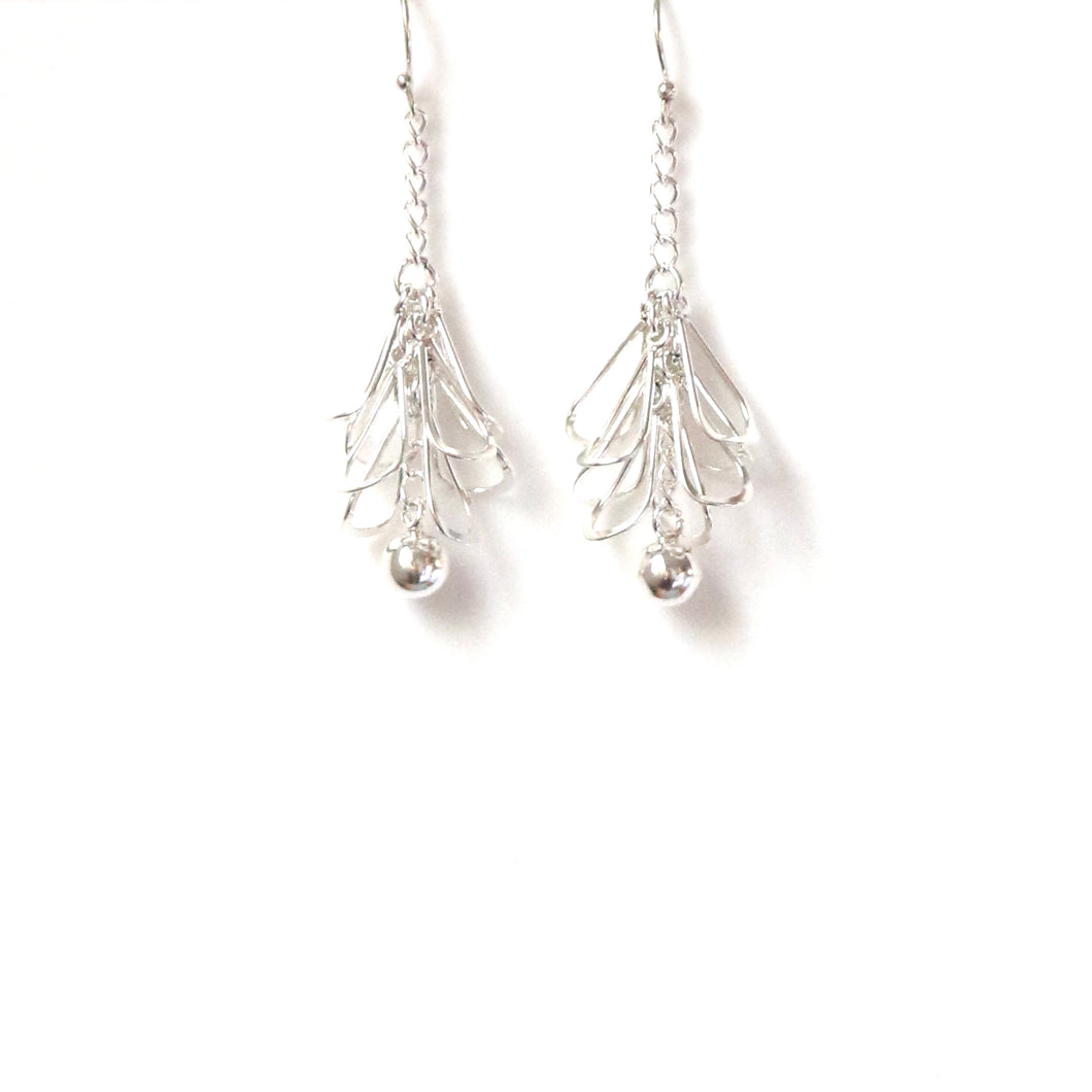 Sterling Silver Earrings Chandelier Shape