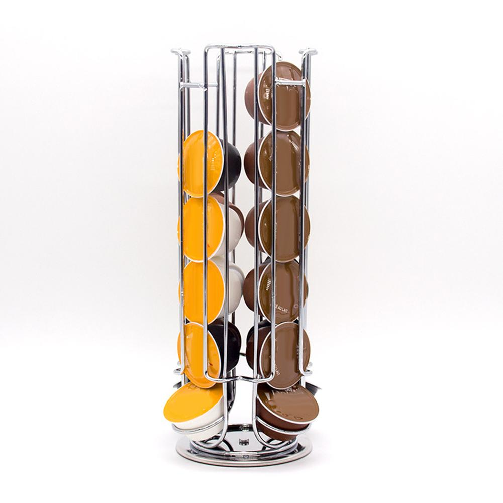 Stainless Steel Coffee Capsule Pod Storage Rack Holder Display Rotating Stand - New Roasters
