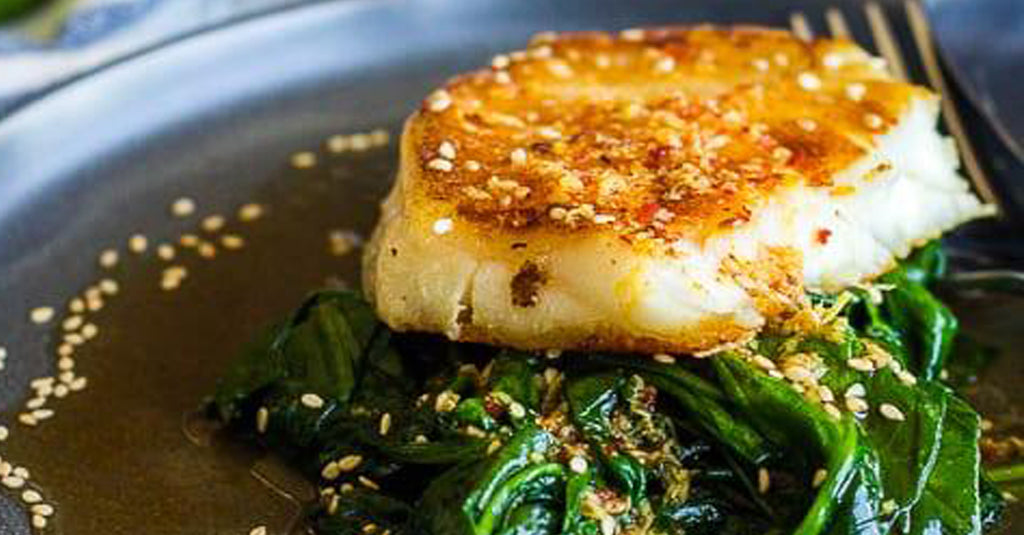 Chilean Sea Bass Recipe with Asian Glaze and Sesame Garlic Green Beens