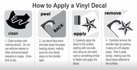 how to apply vinyl step