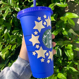 Blue & Star Color Changing Cup
