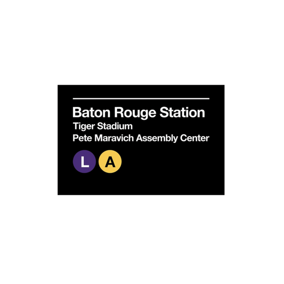 Baton Rouge Tiger Stadium Sign