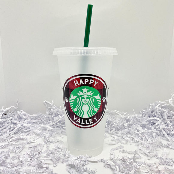 Plaid Happy Valley Iced Cup
