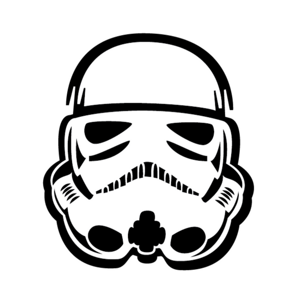 Storm Trooper Face Vinyl