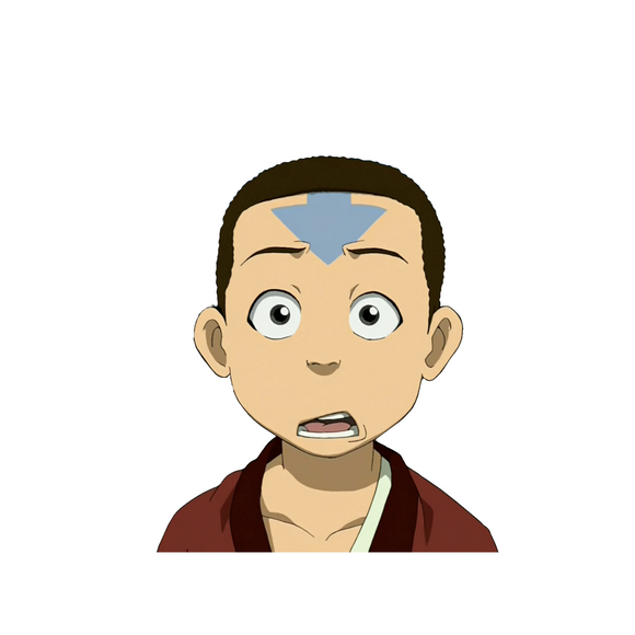 Aang with Hair