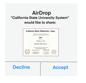 AirDrop Degree