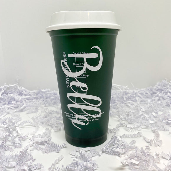 Large Font Custom Green Color Changing Hot Cup