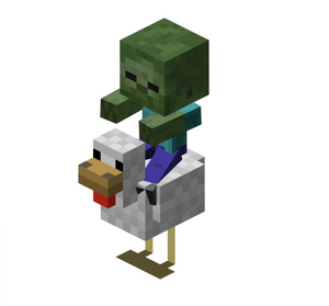 Minecraft Chicken and Zombie