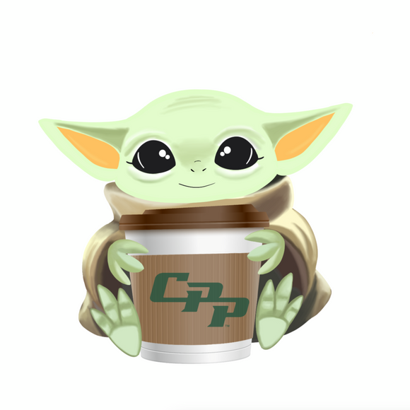 CPP Baby Yoda with Coffee