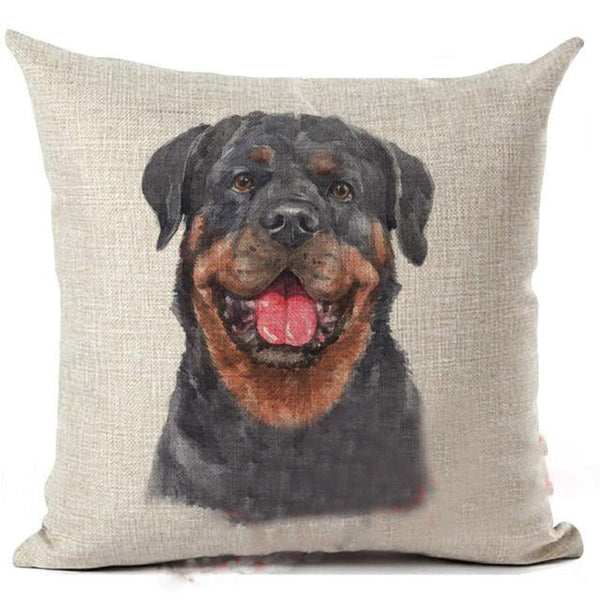 Rottweiler Living Room Decorative Pillow