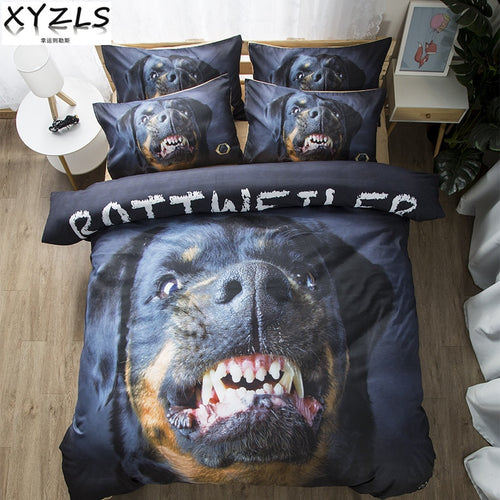 Rottweiler Dog Soft Cotton Bedding Set