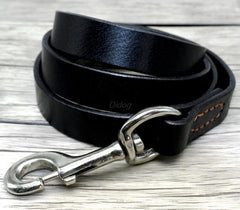 Rottweiler Genuine Leather  Prevent Bite Black and Brown