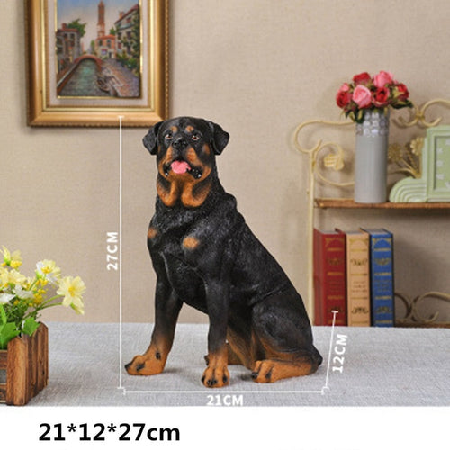 Rottweiler Statue Animal Creative Artware Home Decorations