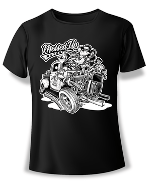 Ford F1 Blowup Shirt (White) - Messed Up Motors