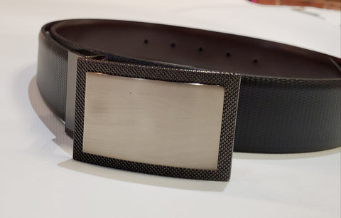 Pebble Grain Reversible with Removable Plaque Buckle