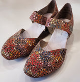 Rieker Mary Jane Comfy Summer Shoes -Multi Mosaic