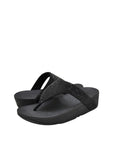 Fitflop Womens Lottie Shimmer Crystal Sandal Black