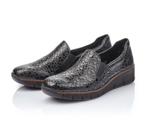 Rieker Croc Loafer - Patent Leather