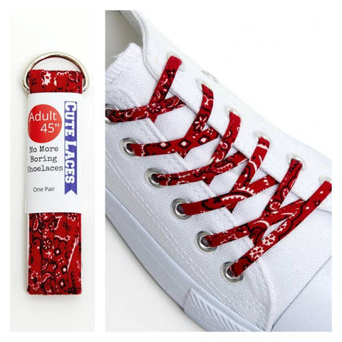 Red/White Polka Dots Shoelaces