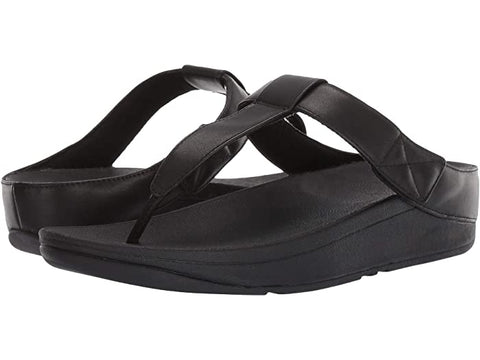 Fitflop Womens Mina Leather Toepost Black